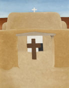 Georgia O'Keeffe - Gates of Adobe Church, 1929