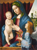 Francesco Francia - Madonna and Child with Angel, ca. 1495-1500