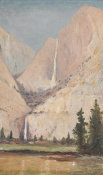 Joseph R. Woodwell - Yosemite with Waterfall, ca. 1904
