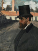 Edgar Degas - Henri Rouart in front of his Factory, ca. 1875