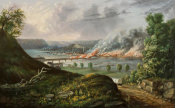 William Conventry Wall - View of the Great Fire of Pittsburgh, ca. 1846