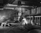 unknown American - (Industry: Jones and Laughlin Steel Mill Interior), ca. 1950