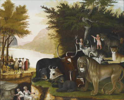 Edward Hicks - Peaceable Kingdom, ca.1837
