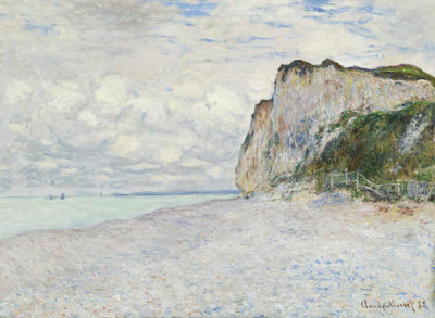 Claude Monet - Cliffs near Dieppe, 1882