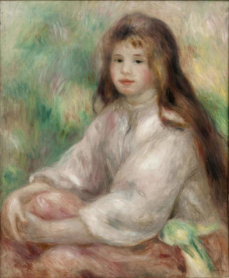 Pierre-Auguste Renoir - Young Girl in Pink, 1895