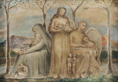 William Blake - Faith, Hope, and Charity, 1799