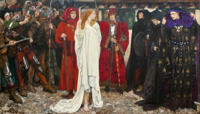 Edwin Austin Abbey - The Penance of Eleanor, Duchess of Gloucester, 1900
