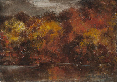 Alfred S. Wall - Landscape Study: Autumn Landscape, ca. 1865-1885