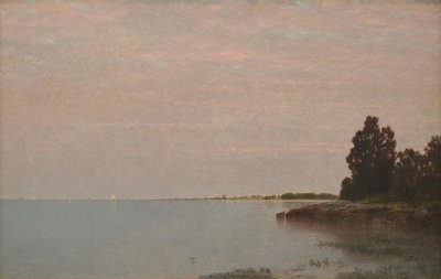 John Frederick Kensett - Long Neck Point from Contentment Island, ca. 1870-1872