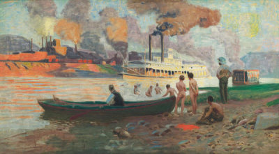Thomas Pollock Anshutz - Steamboat on the Ohio, c. 1896