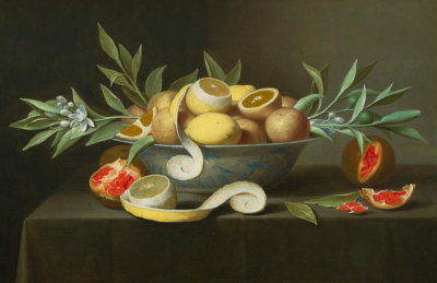 Jacob Fopsen van Es - Still Life with Lemons, Oranges, and Pomegranate, ca. 1660