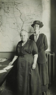Frank E. Bingaman - (Portrait: Anna Howard Shaw, Suffragist, with Mrs. J.O. Miller)