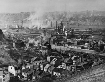 Todd Webb - (Overview: View of J&L Steel Mill on the Monongahela River from the South Side, Pittsburgh), 1948