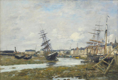Eugene Louis Boudin - The Port of Trouville (Le Port de Trouville), 1882